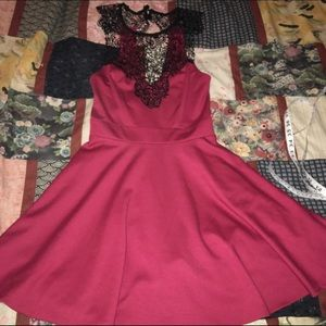 material girl red &  lacy dress